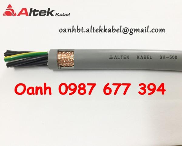 Cáp điều khiển không lưới,cáp điều khiển có lưới chống nhiễu 10 lõi altek kabel