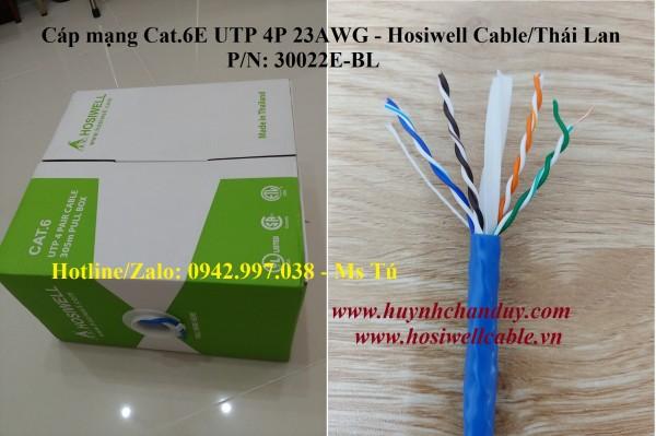 Cáp mạng LAN Cat.6e UTP 4Px23AWG - P/N: 30022e-BL