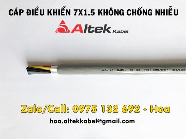 Cáp tín hiệu 7x1.5, cáp điều khiển 7x1.5 có lưới hoặc không lưới chống nhiễu