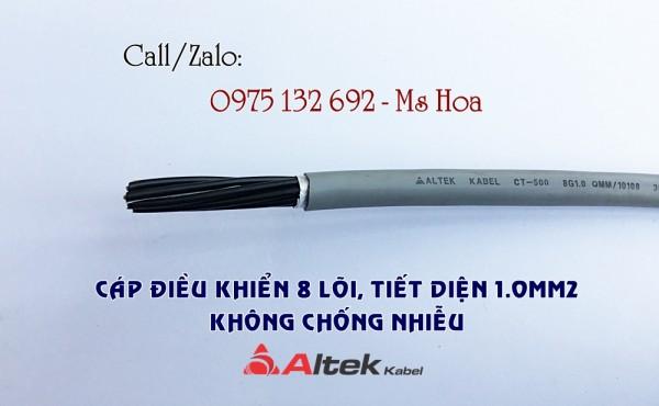 Cáp tín hiệu 8x1.0, cáp điều khiển 8x1.0 Altek Kabel