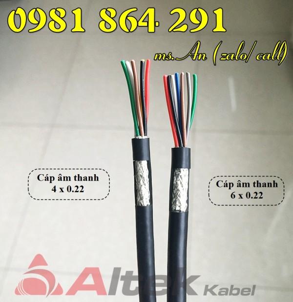 Cáp tín hiệu Altek Kabel 2,4,6,8 lõi tiết diện 0.22mm2 giá tốt