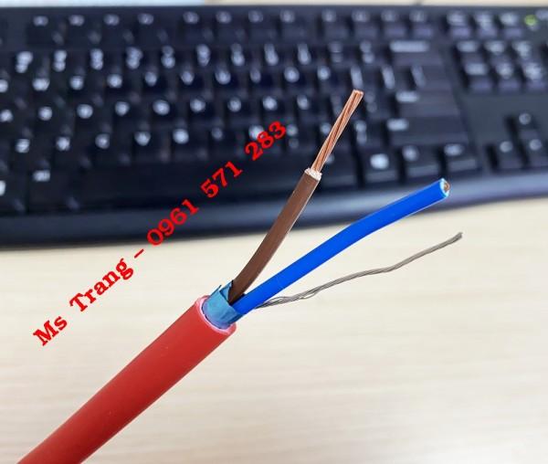 Cáp tín hiệu chậm cháy chống nhiễu 2x1.0 - 2x1.5 - 2x2.5