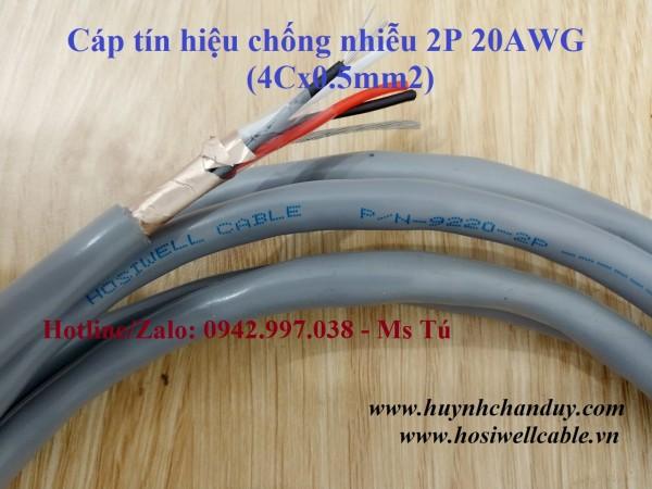 Cáp tín hiệu Hosiwell 2Px20AWG (4Cx0.5mm2), 305m/cuộn