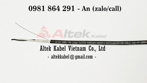 Cáp tín hiệu RS485 1 Pair 22AWG chống nhiễu Altek Kabel