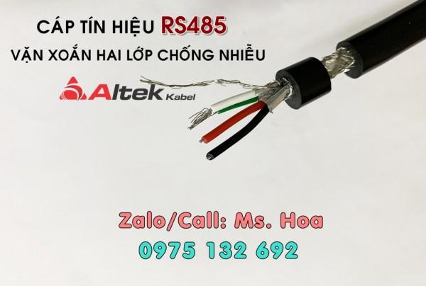 Cáp tín hiệu RS485 2 pair 18AWG hai lớp chống nhiễu
