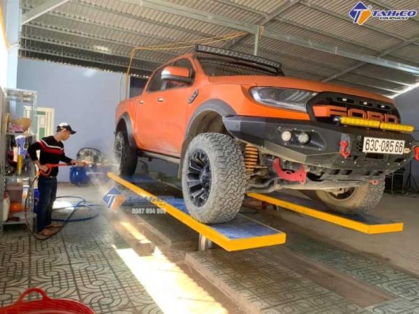 Cầu nâng 1 trụ rửa xe ô tô Ấn Độ SHARK âm nền ?siêu hót