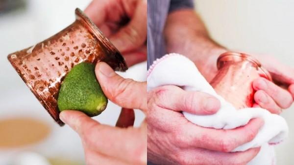 Chanh có tính axit cao nên dùng để đánh bóng lư đồng rất phù hợp
