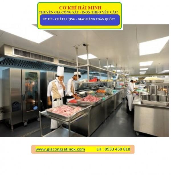 Cơ Khí Hải Minh gia công bếp inox nhà hàng giá rẻ chất lượng