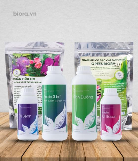 Combo 4 chế phẩm sinh học Anello cho hoa lan