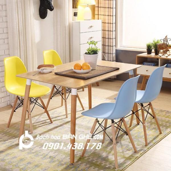 Combo bộ bàn tròn, bộ bàn vuông, bộ bàn chữ nhật mặt gỗ - Bộ bàn ghế ăn, bàn ghế tiếp khách