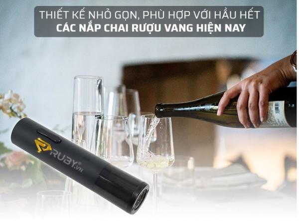 Công cụ Mở Nắp Chai rượu vang dùng Pin Sạc