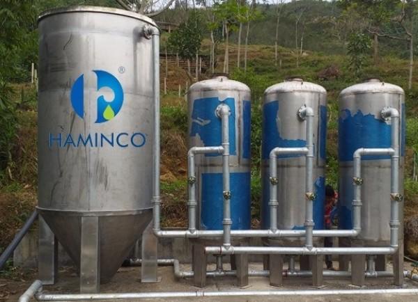 Cột lọc xử lý nước tại Haminco