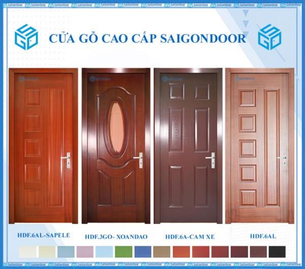 Cửa gỗ công nghiệp HDF - Thương hiệu Saigondoor