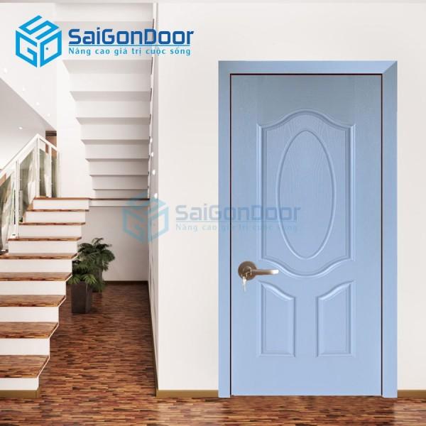 Cửa gỗ HDF sơn màu cho phòng khách