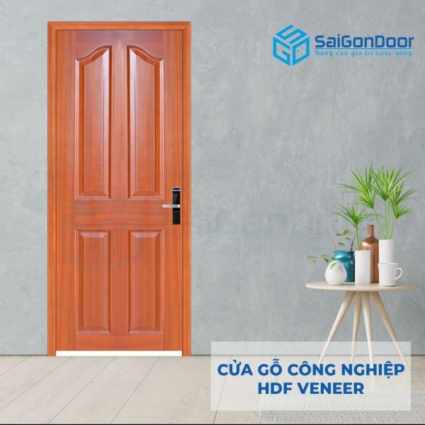 Cửa gỗ HDF Veneer 4A-Sapele