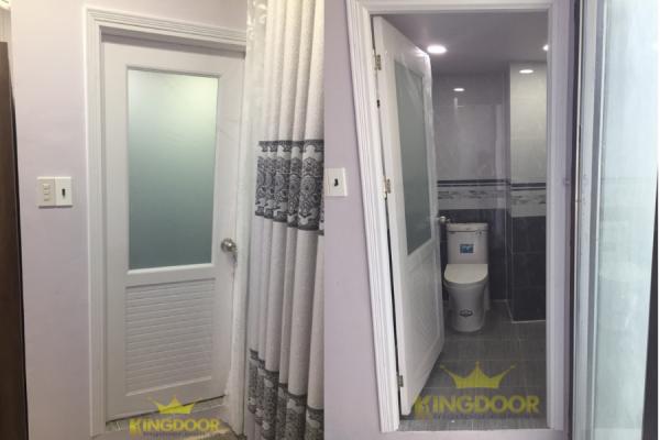 Cửa nhà vệ sinh giá rẻ nhất hiện nay - Cửa nhựa Đài Loan