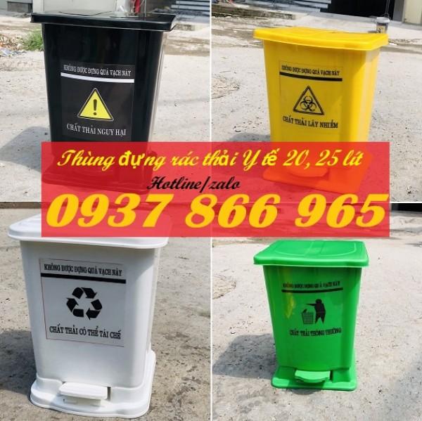 Cung cấp sỉ và lẻ thùng đựng rác Y tế, thùng đựng rác có nguy cơ lây nhiễm covid-19