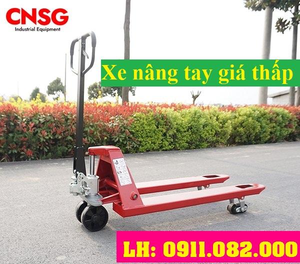 Cung cấp xe nâng tay thấp 3 tấn giá rẻ tại sóc trăng- xe nâng tay bánh PU- lh 0911082000