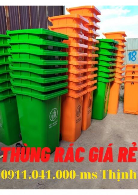 Đại lý thùng rác trà vinh - thùng rác 120 lít thùng rác 240 lít lh 0911.041.000