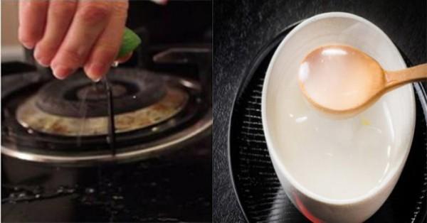Dầu mỡ ám trên bếp lâu ngày dễ dàng bị đánh bay