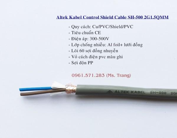 Dây cáp điều khiển rvvp 2x1.5 hiệu Altek Kabel