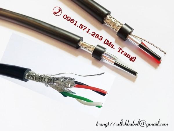 Dây tín hiệu truyền thông RS485 2 lõi 2 lớp chống nhiễu 22awg
