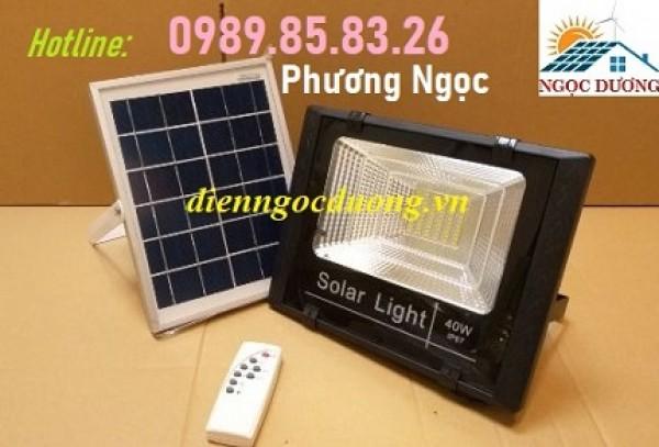 Đèn 40W năng lượng mặt trời, đèn pha led năng lượng mặt trời, đèn pha 40W