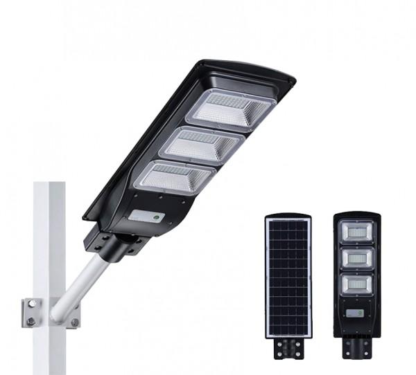 Đèn đường, sân vườn chiếu sáng LED năng lượng mặt trời (90W) Tấm Liền – NT08