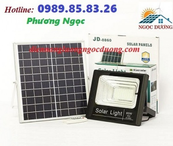 Đèn led chiếu sáng 60W sử dụng năng lượng mặt trời, đèn mặt trời 60W