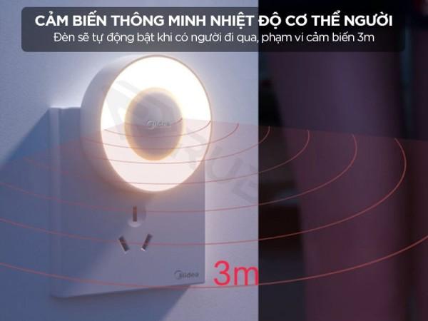 Đèn ngủ cảm ứng chuyển động radar dùng pin xiaomi mijia YD02