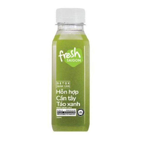 Detox cần tây và táo xanh Fresh SaiGon Chai 300ml