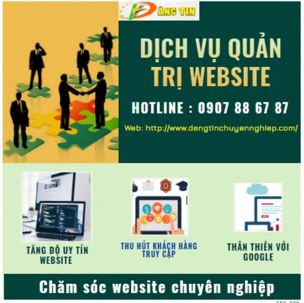 Dịch vụ quản trị nội dung website