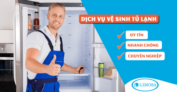 Dịch vụ vệ sinh tủ lạnh quận 1 tại Điện lạnh Limosa