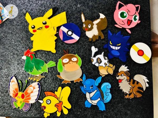Đồ chơi phát triển trí tuệ Gỗ tô màu Pokemon