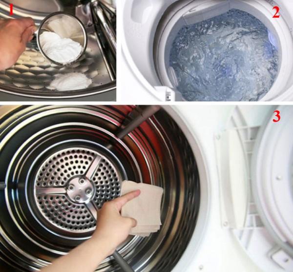 Dùng baking soda vệ sinh lồng giặt dễ dàng
