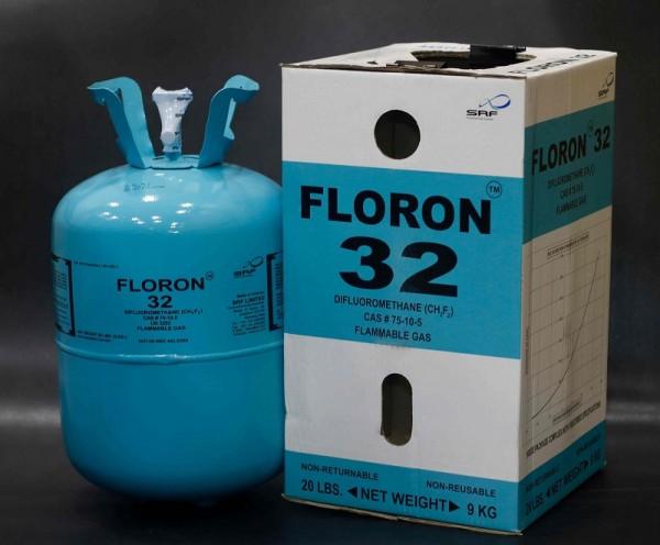 Gas lạnh Floron R32 9kg - Ấn Độ