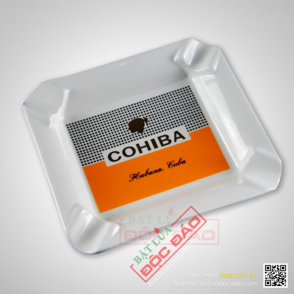 Gạt tàn xì gà gốm sứ Cohiba 4 điếu G406, quà biếu sếp nam cao cấp