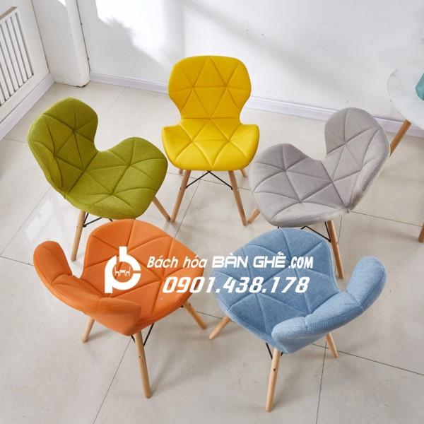 Ghế tam giác bọc vải bố GLM12B - Ghế trang điểm, ghế cafe, ghế ăn giá rẻ