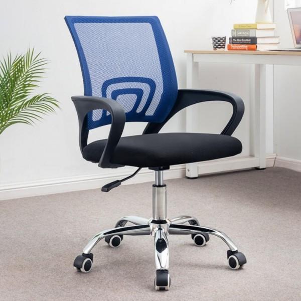 Ghế văn phòng chân xoay GLMV1 - Màu xanh dương - Mẫu màu mới, đẹp, lạ