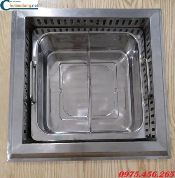 Giá bán bếp lẩu 2 ngăn – 4 ngăn âm bàn tại Bắc Ninh
