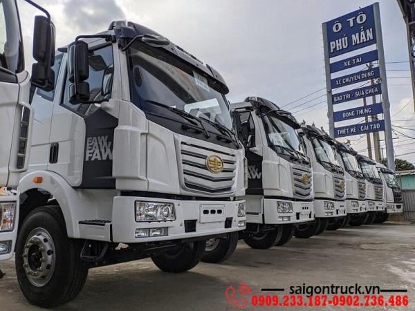 Giá bán xe tải faw 8 tấn thùng dài 10 mét