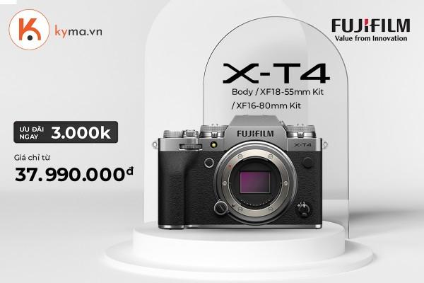 Giá máy ảnh Fujifilm X-T4 giảm mạnh 3 triệu
