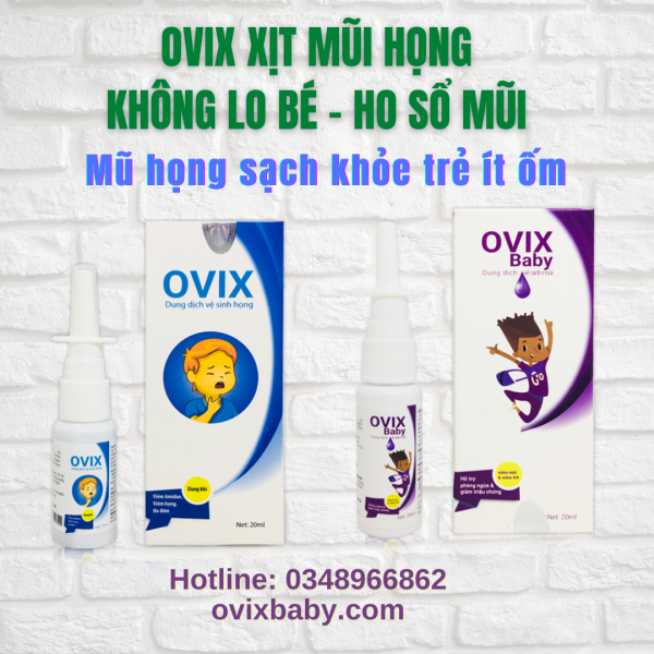 [Giá sỉ] Bộ sản phẩm Ovix bảo vệ hệ hô hấp không lo ho sổ mũi ở trẻ sơ sinh và trẻ nhỏ