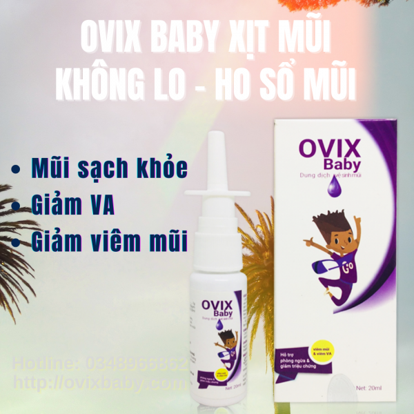 GIÁ SỈ ovix baby xịt mũi không lo ho sổ mũi giảm VA hết viêm mũi dị ứng