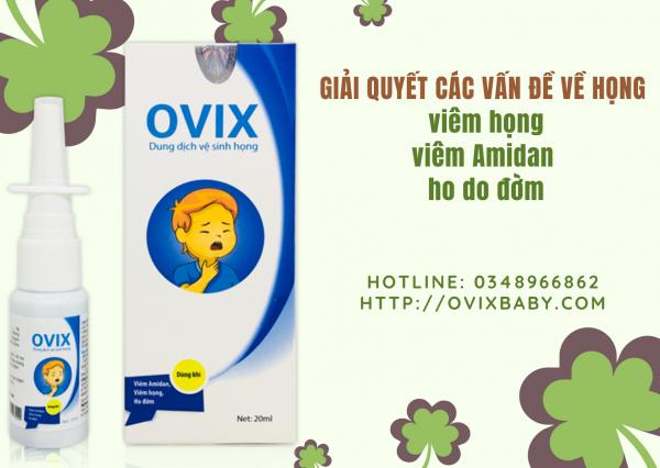 GIÁ SỈ Xịt họng Ovix giảm viêm họng viêm amidan ho đờm cho trẻ và người lớn