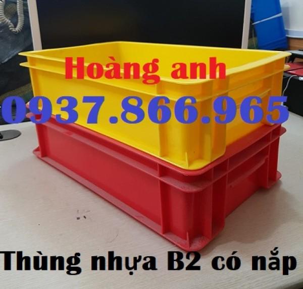 Giá thùng nhựa đặc B2, sản xuất thùng nhựa đặc, thùng nhựa đặc có nắp tại miền bắc