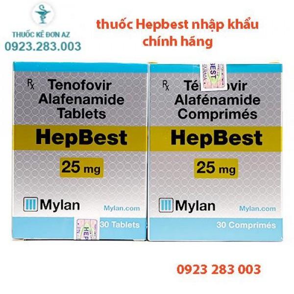 Giá thuốc Hepbest 25mg, mua chính hãng ở đâu?
