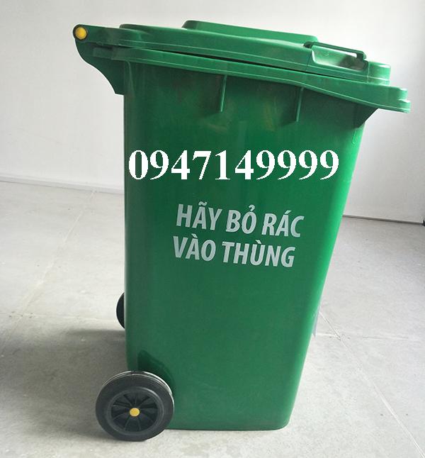 Giảm giá sốc thùng rác nhựa 240L, 120L, 60L bền nhất hiện nay