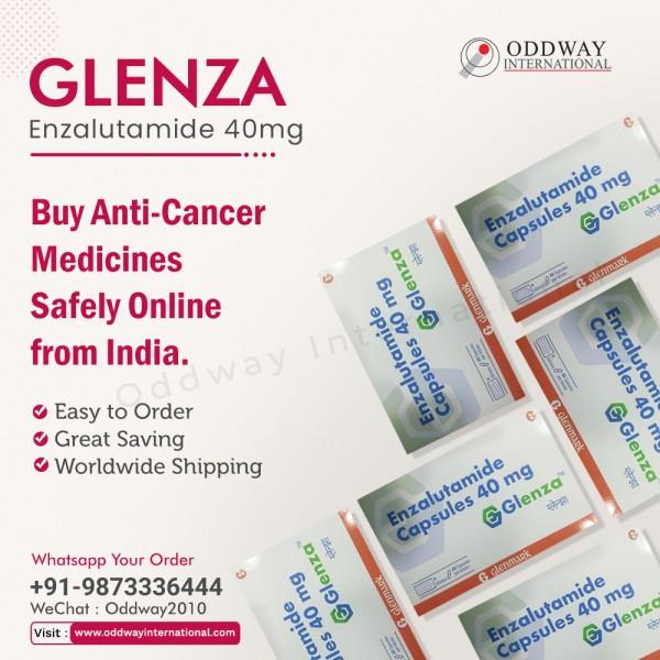 Glenza 40mg Enzalutamide Capsules trực tuyến với giá thấp nhất từ nhà cung cấp thuốc