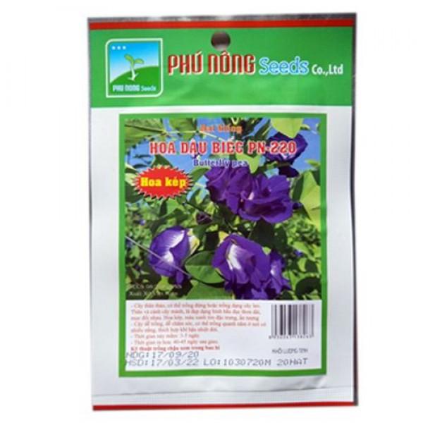 Hạt giống hoa đậu biếc cánh kép Phú Nông gói 20 hạt